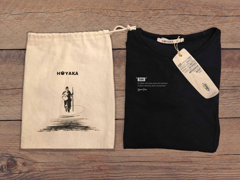 Yunus Tişört Siyah SAKİ - XL-